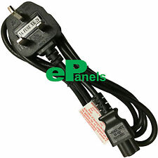 UK Clover Leaf Mains Power Cable C5 Lead Cloverleaf for Laptop Adapters 3A