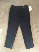 M&S PER UNA ROMA 87%LYOCELL TAPERED Leg trousers UK12 EU40 Regular BNWT RRP£45 N