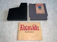 Faxanadu (Nintendo Entertainment System, 1989) NES Game w/Manual Excellent!