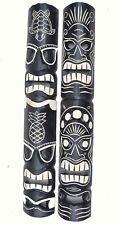 2 MASQUES muraux Tiki 100cm en bois dans le Hawaii style mural salon