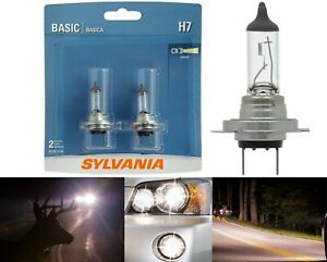 Sylvania Basic H7 55W Two Bulbs Light Turn Cornering Replacement Plug Play Lamp