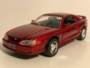 """WELLY 1994 MUSTANG GT RED 1:32 DIECAST MODEL CAR 5.25"""" PULL BACK NEW NO BOX"""