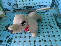 "Hound Dog Stuffed Plush Toy Antique-vtg Animal Rare 14""Autograph Basset Beagle"