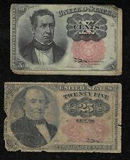 """1874 10+25 Cents """"Fifth issue"""" Fractional Note """"Lot of 2 notes"""""""