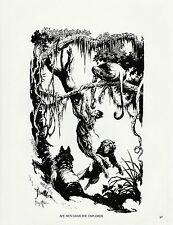 "1985 Full Color Plate /""Primitive Ape Man/"" by Frank Frazetta Fantastic GGA"