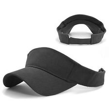 Charcoal Gray Cotton Golf Tennis Sports Adjustable Visor Sun Cap Caps Hat Hats