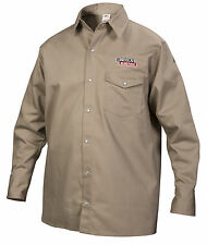 Lincoln Khaki Fire Retardant FR Welding Shirt Size Extra Large K3382-XL