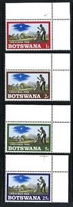 1968 Botswana Christmas set of 4 UM top right corner stamp with edge