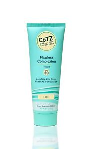 CōTZ Flawless Complexion Tinted Facial Mineral Sunscreen Broad Spectrum SPF 50