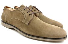 John Varvatos Men's Shoes Suede Leather Lace Deck Oxfords Size 11.5 Clay Brown