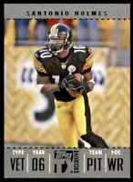 2007 TOPPS TX EXCLUSIVE SILVER SANTONIO HOLMES 27/49 PITTSBURGH STEELERS #90