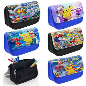 Personalised Pencil Case Boys Pokemon Stationary School Bag Kids Childrens Gift