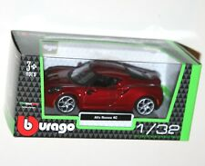 11424 Burago White 1 32 Scale Diecast Model Cars FIAT 500 and Boxed