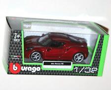 Burago - ALFA ROMEO 4C (Red) Model Scale 1/32