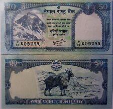 "BILLETE ""   NEPAL    ""  50 RUPIAS    AÑO  2008  Monte Everest  UNC    PLANCHA"