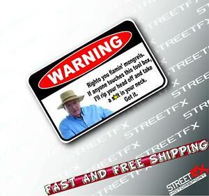 Warning Alf Stewart Toolbox Tools Construction Mechanic Sticker Decal V8 4x4 JDM