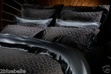 Agent Provocateur super king silk duvet cover & pillowcases midnight leopard set