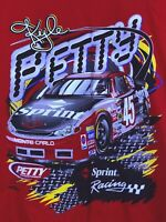 Vtg Nascar Kyle Petty 45 Sprint Racing TShirt Double Sided Mens Large L NWOT RED