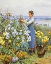 The Little Flower Seller by Nikolai Rachkov Poor Girl Child  8x10 Print 2255