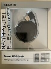 BELKIN Travel USB Hub 4 Ports NIB GR8 BUY 4 ALL MOBILE DEVICES WHILE MOBILY WORK