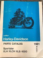Harley NOS OEM Parts Manual Catalog Book 1954-81 K-Model & Sportster XLH XLCH XL