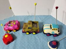 S.U.WHEEEE & RALLY RIPSTER & PINK CAR LIGHT UP REMOTE CONTROL CARS WORKS JUSTB