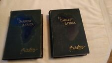 IN DARKEST AFRICA,,VOL. 1 & 2 by HENRY M. STANLEY 1890 EDITIONS