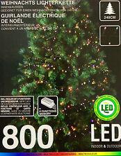Lichterkette 800 LED,8 Funktion,MULTICOLOR,Beleuchtung für 240cm Weihnachtsbaum