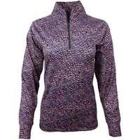 Page & Tuttle Snake Skin Print Mock Neck   Golf  Outerwear Purple Womens - Size