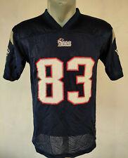 New England Patriots Jersey 83 Welker Reebok Blue Shirt Size Boys L NFL Football