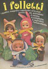 X4451 I Folletti - I 4 magnifici bambolini articolati - Pubblicità 1979 - Advert