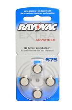 Rayovac EA Hearing Aid Batteries Size 675 (40 cells)  PR44 Blue Tab
