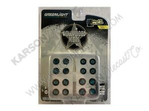 """CHASE """"Hollywood Icons"""" Wheels and Tires Multipack 1:64 Scale-Greenlight 16050C"""