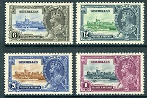British 1935 KGV Silver Jubilee Seychelles Sc #118-121 Mint Non Hinged Y113