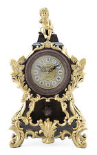 High Quality Antique Linseng Polyresin Mantel Table Clock With Pendulum