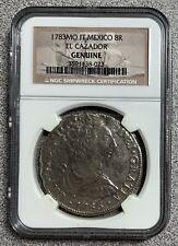 1783 MO FF Mexico 8 Reale El Cazador 8R Shipwreck Coin NGC Certified Genuine