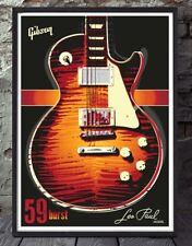 Gibson les paul standard 59 guitar burst edition art print. Specially created
