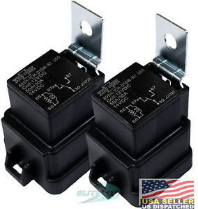 Song Chuan Relay, 12VDC 30 A, Weatherproof Replace # GM 12193611 HELLA (Pack 2)