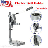 Double-hole Electric Drill Holder/Stand Bench Press Power Tool Clamp Bracket US