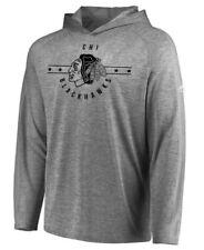 Majestic Mens Chicago Blackhawks NHL Hockey Fan Flow Hoodie Hooded Shirt Large L
