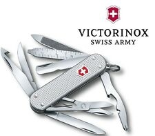 Victorinox Swiss Army MiniChamp Knife 15 Functions Silver Alox Handle 2 ¼ Closed