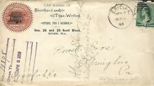 USA 1889 FANCY CANCEL ON BACK MALTISE OR IRON CROSS