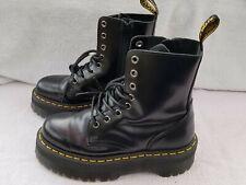 Dr. Martens Jadon Black Leather Boot Polished Smooth 8-eye women sz 6