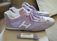Scarpe donna HOGAN Olympia n.37 lilla camoscio e tela