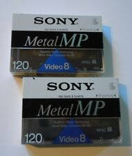 2 New Sony 120 Min Metal Mp Video 8mm Video Cassettes