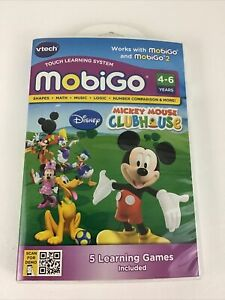VTech MobiGo Disney Mickey Mouse Clubhouse Touch Learning System 5 Games Math