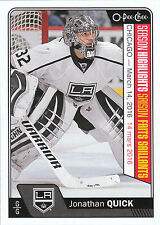 16/17 O-PEE-CHEE OPC SEASON HIGHLIGHTS #611 JONATHAN QUICK KINGS *24000