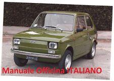 Fiat 126 (1972/1991) Manuale Officina Riparazione Restauro ITALIANO SU CD