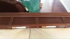 PAIR OF HUNTER DOUGLAS DARK WOODEN BLINDS  37 5/8