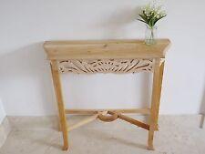 Tavolo console incompiuto solido legno di mogano intagliata a mano Lampada Corridoio laterale scrivania